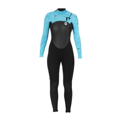 red snap -xcel-womens-axis-4-3mm-x-zip2-chest-zip-wetsuit-black-ocean-blue